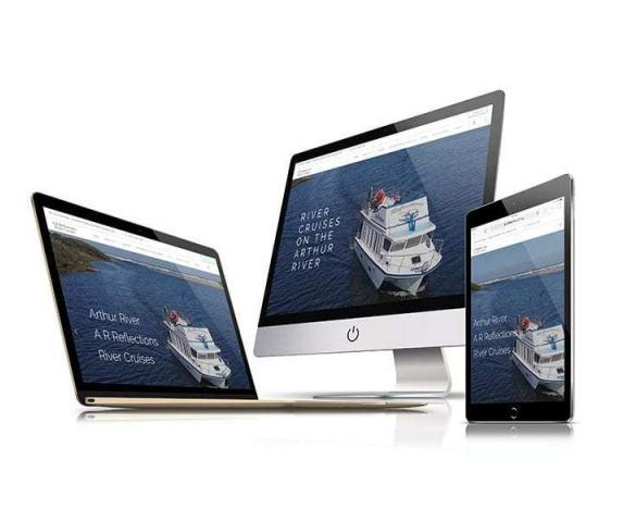 Website design - AR Reflections WordPress website design responsive