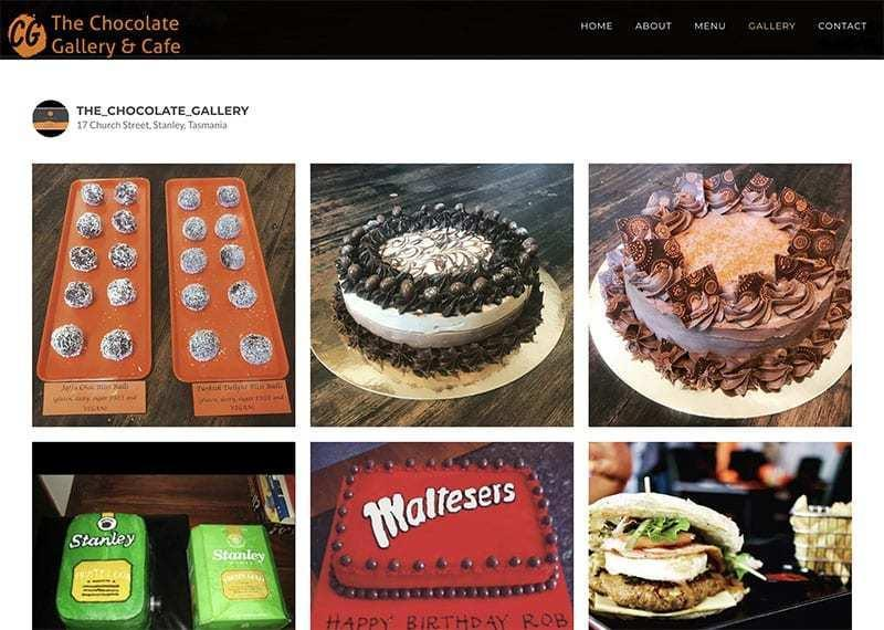 WordPress Website Development – The Chocolate Gallery & Cafe Stanley