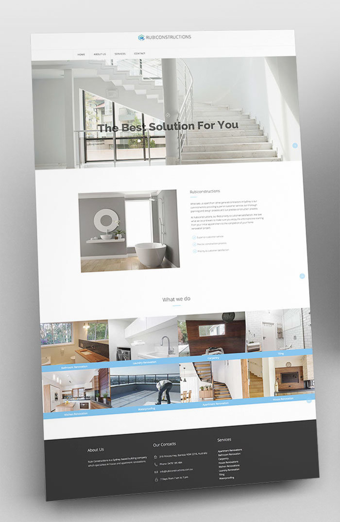 Website Design - Rubicnstructions Home Page