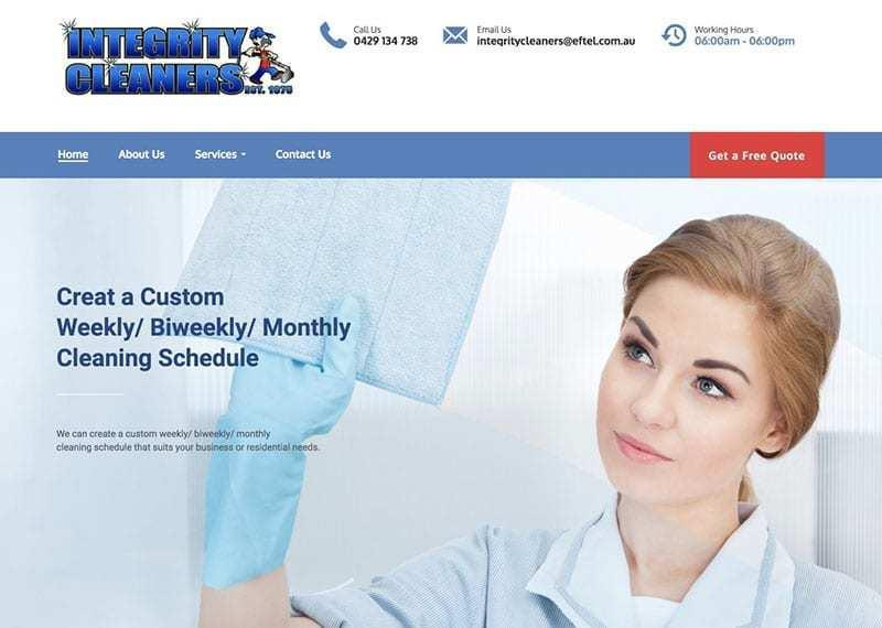 WordPress Website Design – Integrity Cleaners